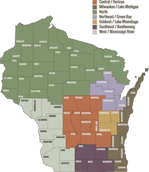 WI Region Map